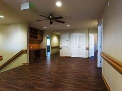 Care Facility Interior Hallway