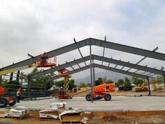 Erecting Steel Building