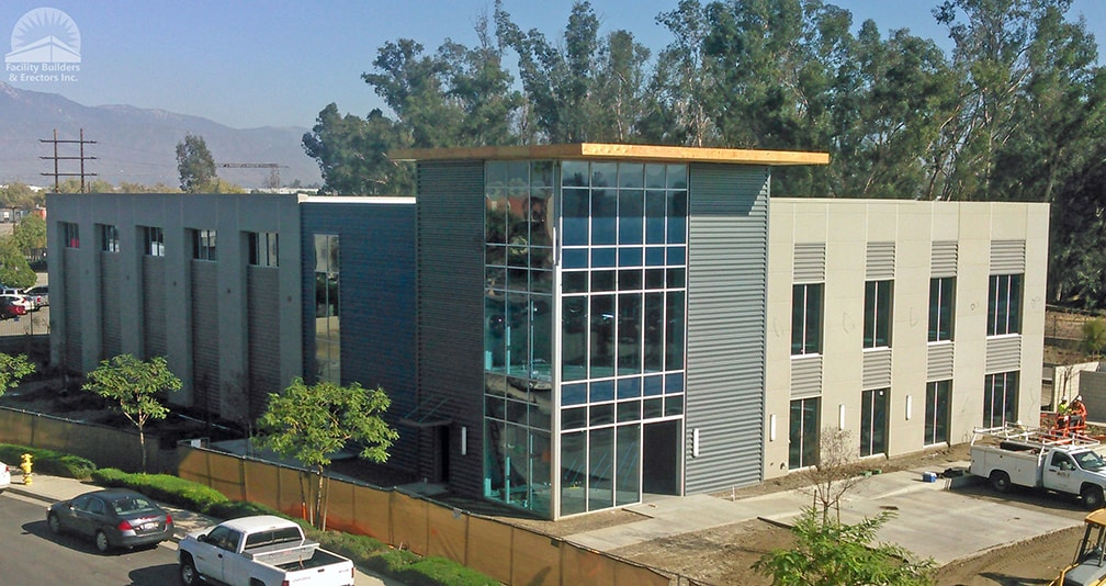 commercial office steel building